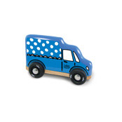 Mini Blue Truck with Dots