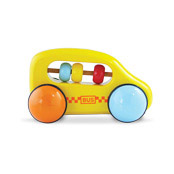 Yellow abacus car