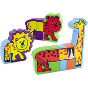 12 Magnetic wooden animal pieces