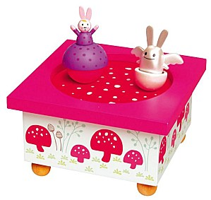 Musical Box Angel Bunny Pink