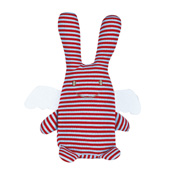 Stripy angel rabbit doudou