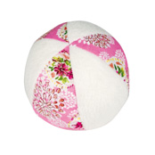 Soft Rattle bowl Pink Flowers 10Cm